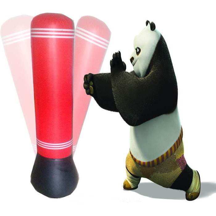 Us 30 99 Air Pump Gift Kid Gloves Punching Bag Stand Tower Inflatable Ball Sd Boxing Training Color Red In Sports
