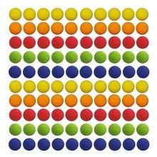 100 шт 2,2 см красочные мячи для гольфа EVA мягкие пулевые шарики для Nerf Rival Zeus Apollo Refill Toys