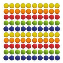 100 шт разноцветные шарики для гольфа 22 см