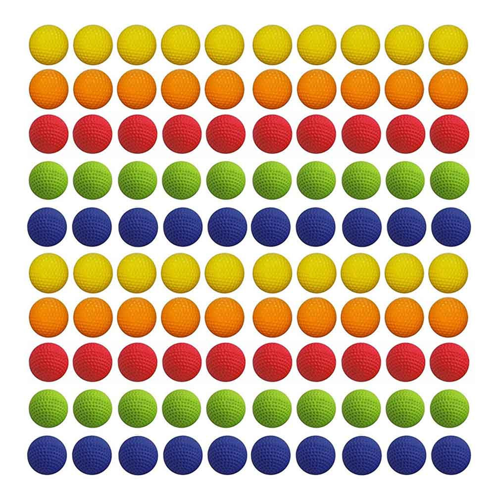 100pcs 2.2cm Colorful Balls Golf  EVA Foam Soft Bullet Balls For Nerf Rival Zeus Apollo Refill Toys