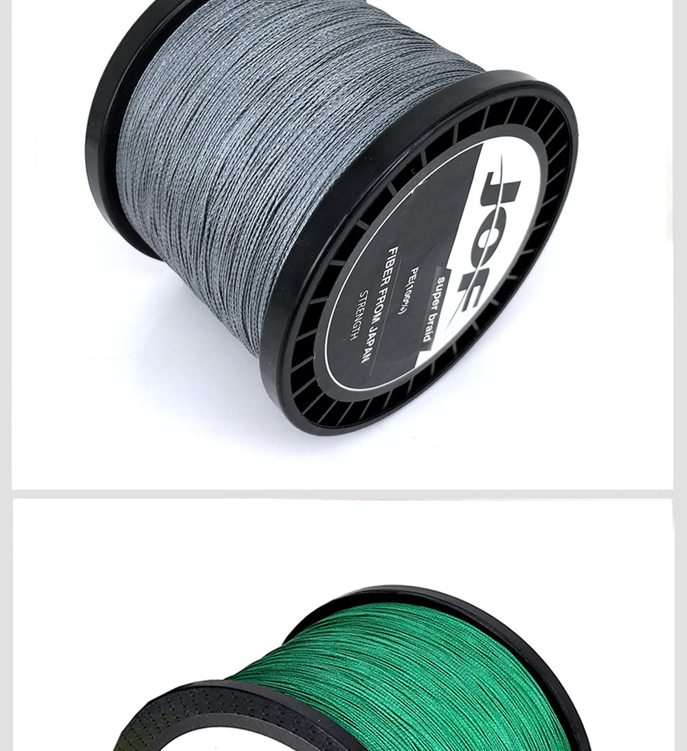 1000M Multifilament Fishing Line 100% PE Braided 4 threads fly fishing line for carping fishing  30 40 50 60 80 100lb 8
