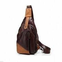 Vintage Men Messenger Bags  Travel   Casual Chest genuine leather Male Retro Military Shoulder Bag LI-449