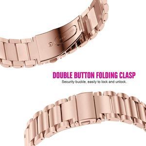 Image 3 - מתכת נירוסטה שעון להקת עבור Garmin Forerunner 245 645 Smartwatch 20mm יד צמיד עבור Garmin Venu/Vivoactive 3 רצועה