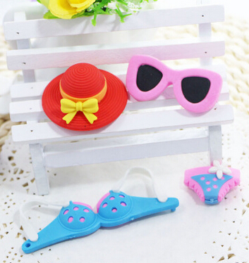 Freeshipping Hot Recommending Eraser  Sun Glasses Eraser Baby Kids Eraser Girl Style Eraser Set 50 Pieces Per Lot