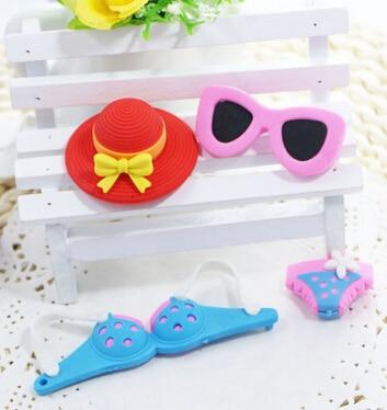 Freeshipping Hot Recommending Eraser  Sun Glasses Eraser Baby Kids Eraser Girl Style Eraser Set 50 Pieces Per Lot