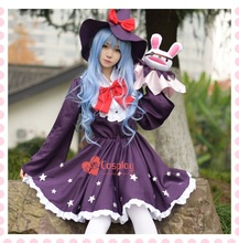 New Anime Date A Live Yoshino Cosplay Costume Halloween Dress Witch Dress+Plush Toy Costumes for Women S-XL