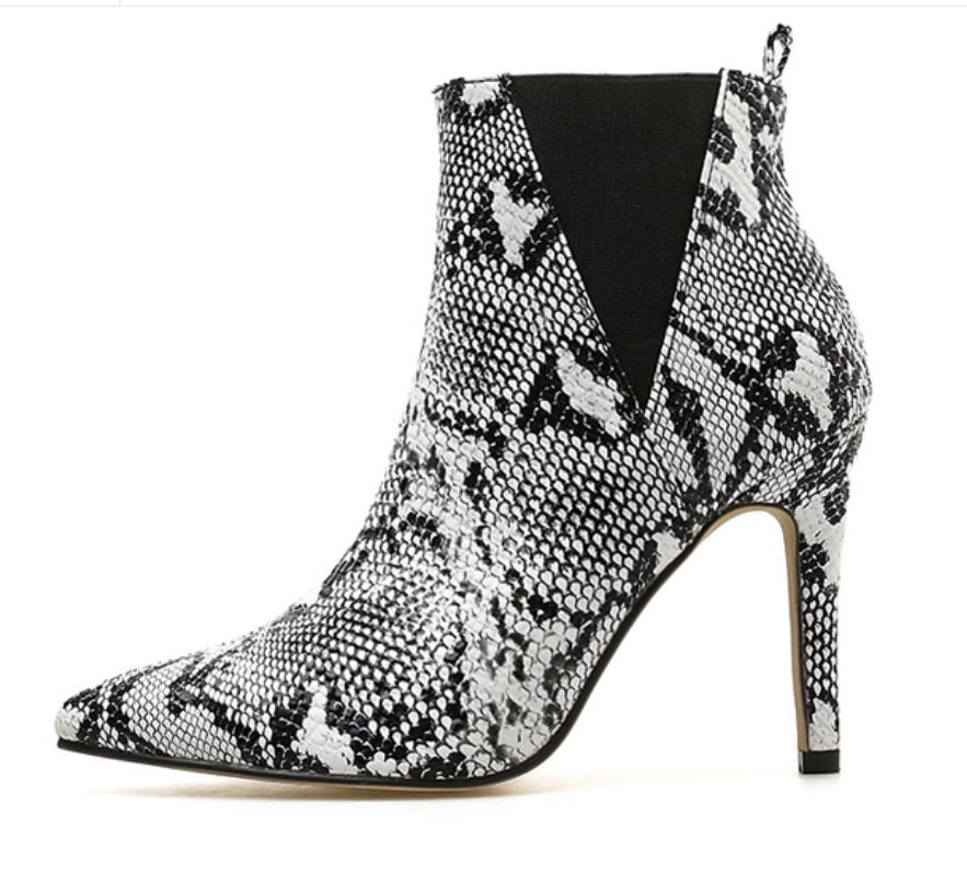 New leopard pointed female boots fine with high-heeled boots boots fashion footwear longline high neck tee with leopard insert page 7