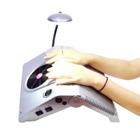 3 in 1 Multifunctional Salon Nail Art Equipment Tool Driller Folder Suction Dust Collector Glazing Machine with Ligh 220V