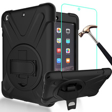 For iPad Mini 1/2/3 7.9inch Case with Screen Protector Rugged Shockproof Anti-Slip Hybrid PC+Silicone Bumper Protective