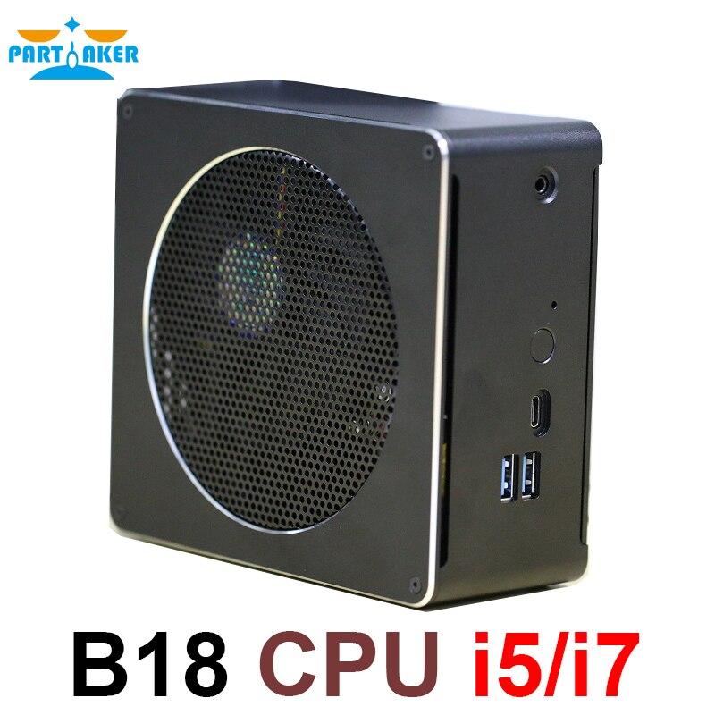 Intel Core процессор мини ПК i5 6568R i7 6785R i7 8750 H настольный компьютер Вентилятор охлаждения оконные рамы 10 16 ГБ оперативная память К 4 к компьютер