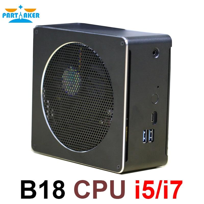 Intel Core CPU Mini PC i5 6568R i7 6785R i7 8750H Mini Computer Desktop Cooling Fan Windows 10 16gb Ram 4K Computer mini pc windows desktop computer with intel quad core i7 2630qm 8 threads hm76 express slot type fcpga988 4g ram 128g ssd