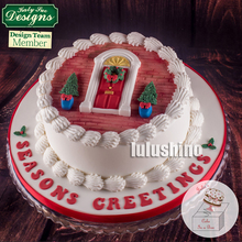 Christmas quality sugar gum paste mould house Door silicone cake mold