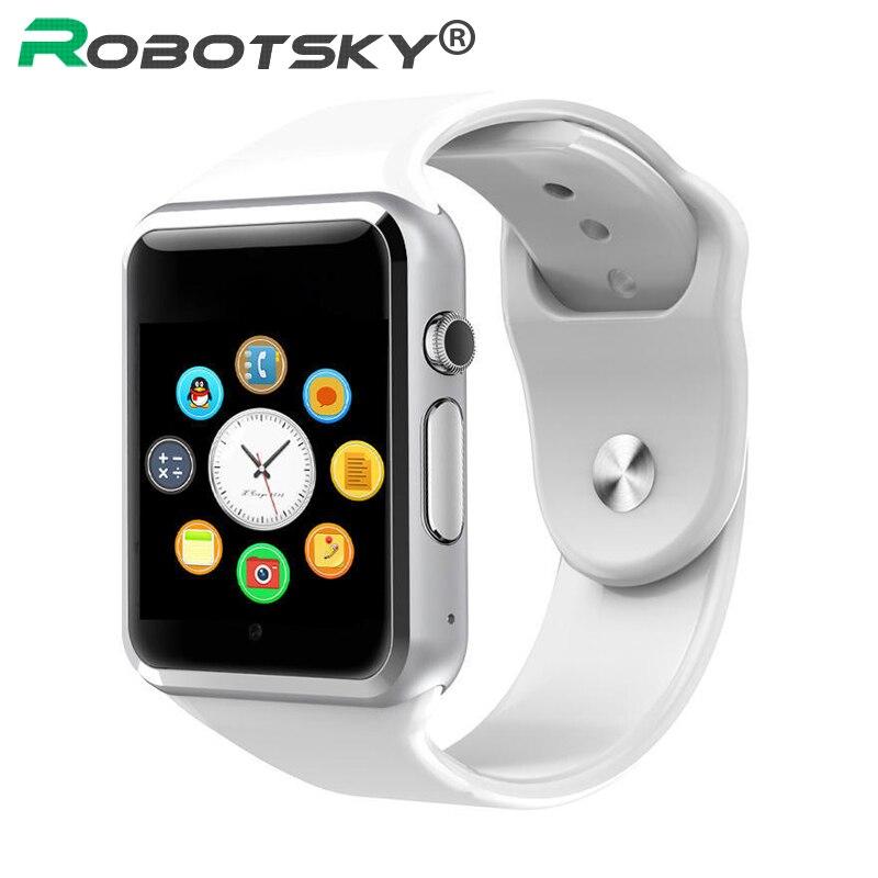 A1 relógio inteligente bluetooth relógio de pulso esporte pedômetro com cartão sim passometer câmera smartwatch para android melhor do que gt08 dz09