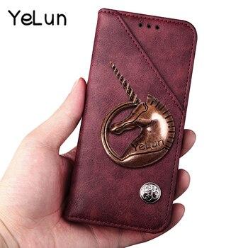 YeLun Luxury Retro Flip Leather Case For Xiaomi Mi4c Mi 4c Unicorn Wallet Flip Style Cover Phone Case For Xiaomi Mi 4s/Mi4s Case