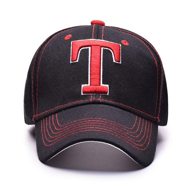 2898e5c609b T letters embroidery baseball cap student couples Caps T LOGO casual cap  hip hop Hat New fashion hats men and women sun hat
