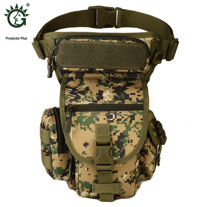 ФОТО Protector Plus Camouflage Outdoor Molle Tactical Military Pouch Bag For Waist Leg Travel Tactical Camping Bags Sporttas
