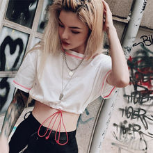 Women Girls Mesh Sheer Crop Top Short Sleeve Transparent T-Shirt Tee Tops Hot Sale
