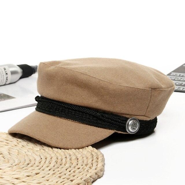 Women Baseball Cap Hats For Women Winter Octagonal Fashion French Wool Baker's Boy Hat Cap Female Black Streetwear Caps 2019 10