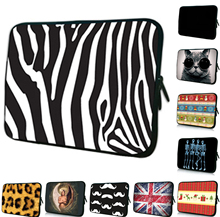 Wholesale Striped Tablet Pouch 12.2 10.2 7 15.4 16.8 17.4 inch Unisex Zipper Laptop Bags 10 17 15 14 13 12 inch Sleeve Cases