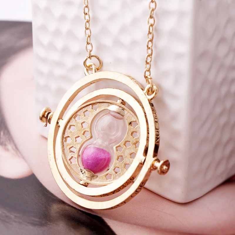 HTB1mYH7PcbpK1RjSZFyq6x qFXaL - BRACE CODE Various Movie Harri Pot Necklace Time Turner Hourglass Vintage Pendant Hermione Granger For Women Lady Girl Gift