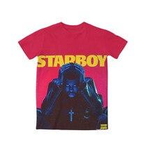 2 Styles Echt AMERIKANISCHEN UNS größe Nach maß Starboy x Die Weeknd 3D sublimationsdruck T-shirts plus größe