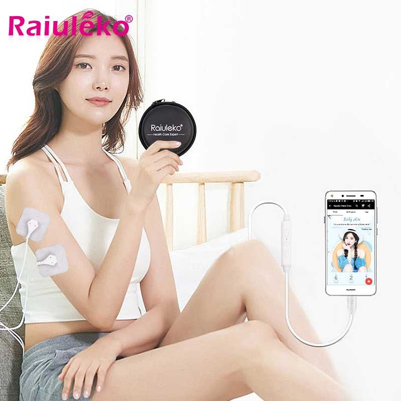 Mini USB Smartphone Massager Multi-Function Mobile Phone Control Massage Device 6 Mode Muscle Stimulator for Body Healthy Care