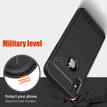 Carbon Fiber Luxury Back Protector Case For iPhone X