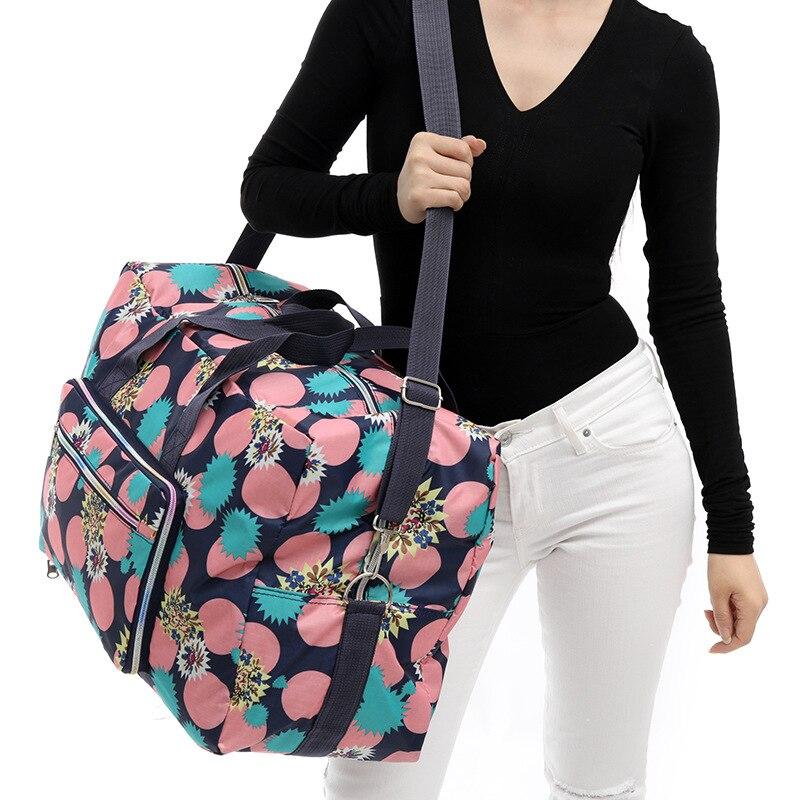 Folding Duffle Bag Women Large Travel Bag Portable Travel Organizer Weekend Bags Crossbody Big Overnight Bag Waterproof Tote New
