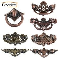 Probrico furniture antique drawer knob zinc alloy brushed copper or antique bronze vintage kitchen cabinet handle.jpg 250x250