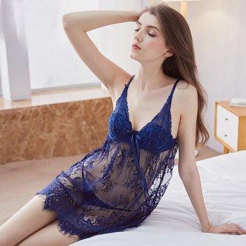 a632da7be563 MR4 Nuevo 2017 ropa interior Sexy para mujer lencería Sexy de encaje transparente  vestido conjunto ropa de disfraces eróticos