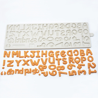 silicone fondant cake mold biscuit molds English alphabet digital chocolate mould baking tool for Cake Decoration Silicone Mould