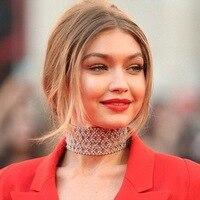 Oświadczenie projekt kobiety Austria kryształ kamienia Hollow kwiaty szeroki chocker naszyjnik collares mujer na dziewczynę