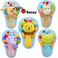 Gift for kids 1pc 18cm cloth sozzy dog monkey lion grasp pacify rattle high quality infant baby plush stuffed educational toy