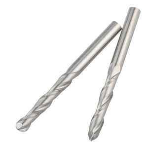 Image 2 - 10 Pcs Carbide Ball Nose CNC Router Bits 3.175 X 17mm End Mills Copper Resin Cutters (Silver)