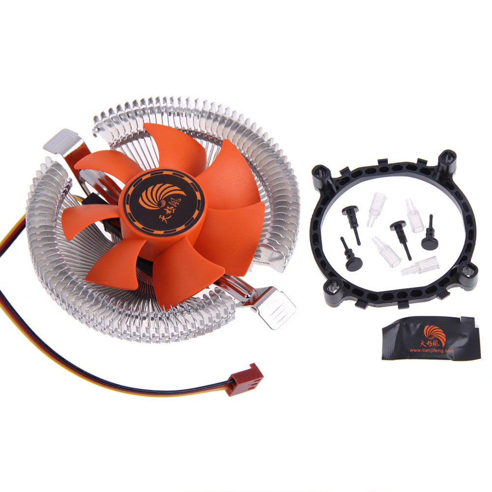 High Quality DC 12V PC CPU Cooler Cooling Fans Heatsink for Intel LGA775 1155 AMD AM2 AM3 754 Wholesale Price cpu cooling cooler fan heatsink 7 blade for intel lga 775 1155 1156 amd 754 am2 levert dropship sz0227