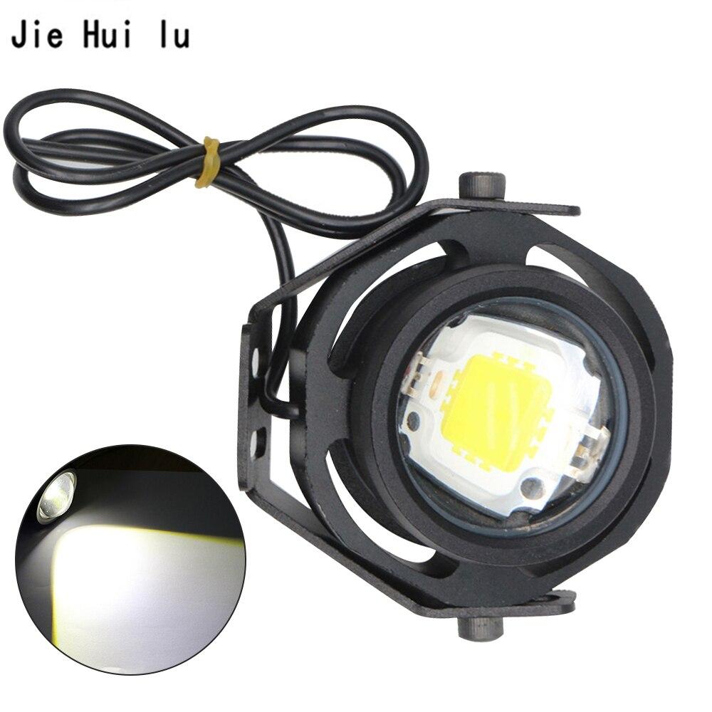 Laufende Licht 1Pcs 10W 12V 24V LED Auto Nebel Lampe DRL Für Motorrad Lkw weg von der Straße stark Schwach Blinkt 3 Modus Schalt