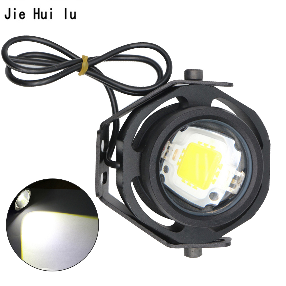 Running Light 1Pcs 10W 12V 24V LED Car Fog Lamp DRL For Motorcycle Truck Off Road Strong Weak Flashing 3 Mode Switching