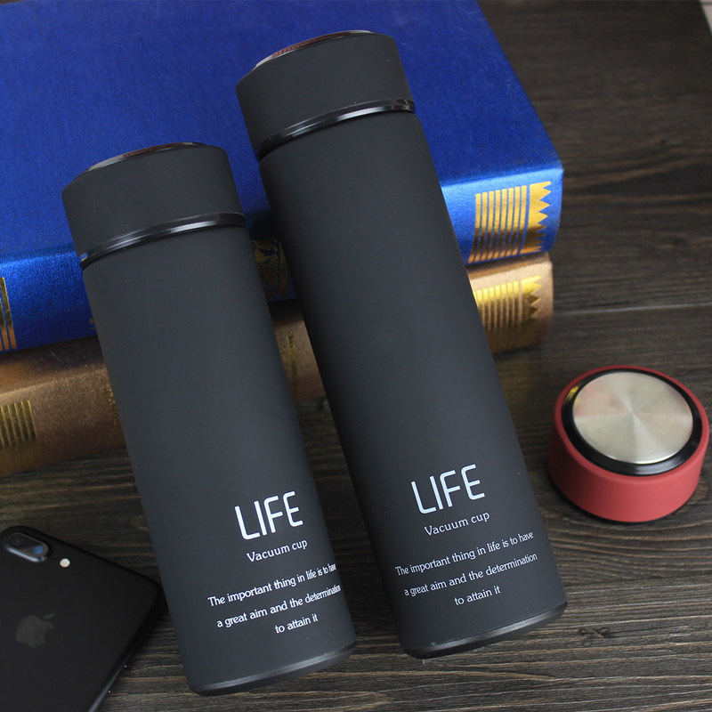 Christmas Thermos Cup Stainless Steel Thermo Mug With Tea Infuser Insulated Thermos Coffee Mugs Thermal Bottle