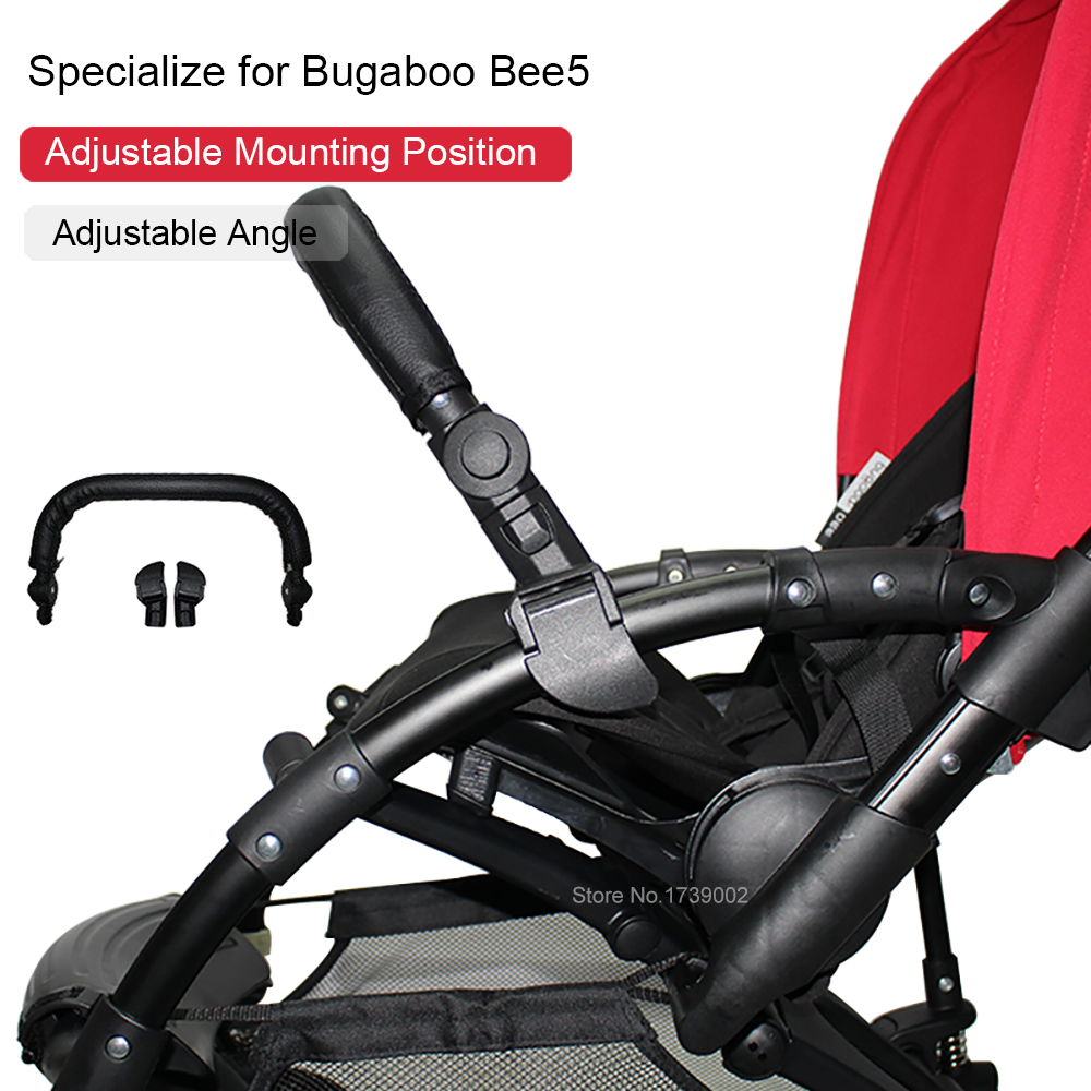 Bumper Bar Armrest Handlebar For Bugaboo Bee5 Bee 5 Series Baby Stroller Accessories Trolley  PU Leather Cover Pram