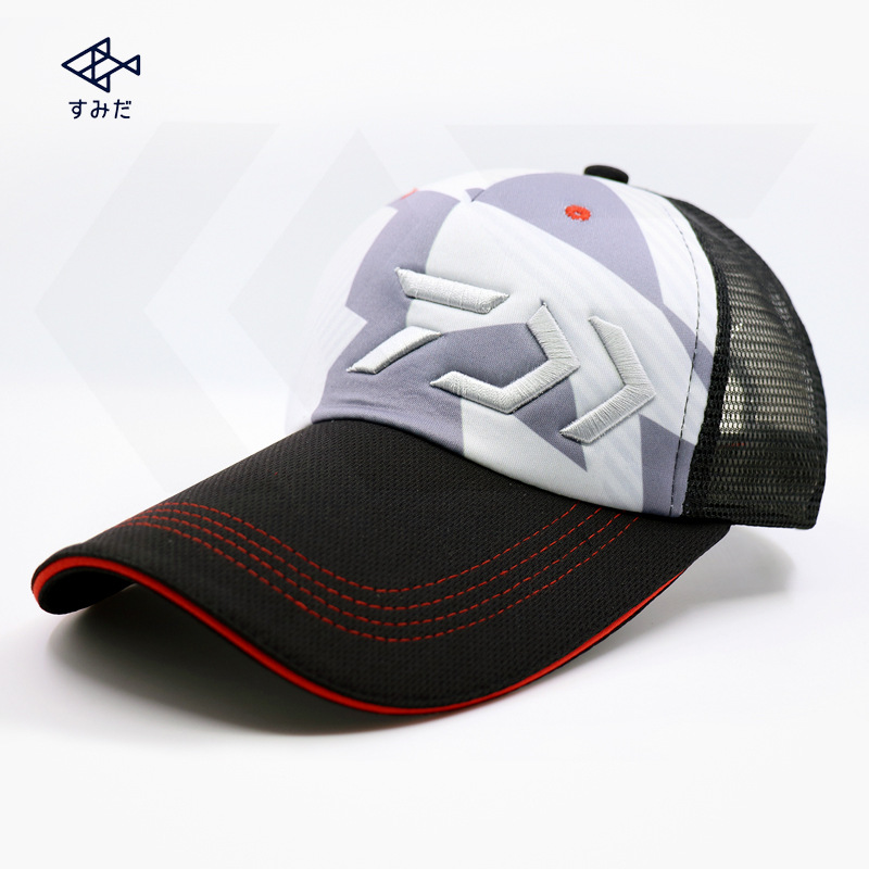 2017 NEW DAIWA Fishing cap summer hat sun Sunscreen Mesh man Breathable outdoors Anti-UV Leisure light DAIWAS Free shipping