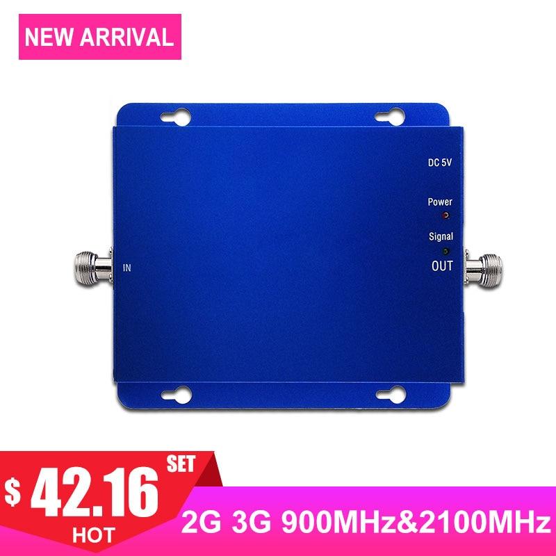 Répéteur de signal de téléphone portable double bande gsm 900 mhz amplificateur cellulaire 2g 3g réseau band1 2100 mhz wcdma amplificateur de téléphone portable-