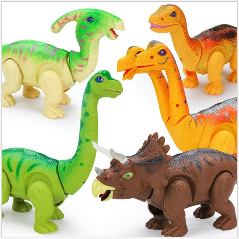 Electric Egg Laying Walking Dinosaur Toys Glowing Dinosaurs with Sound Animals Model Toys for Kids Children Interactive Gifts