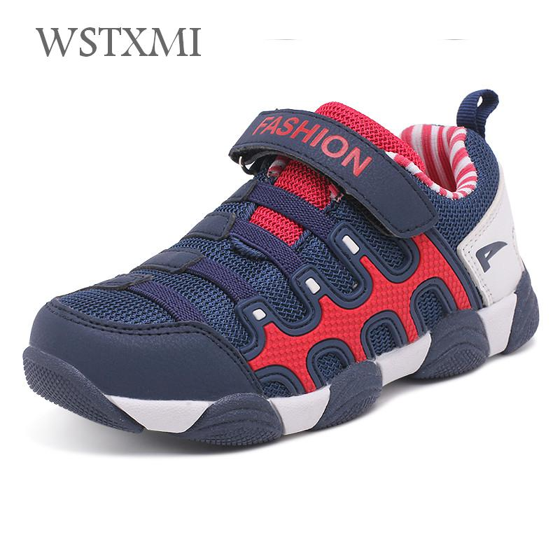 Spring Autumn Children Shoes Boys Sneakers for Girls Sport Casual Shoes Breathable Leather Hook&loop Unisex Running School 27-37