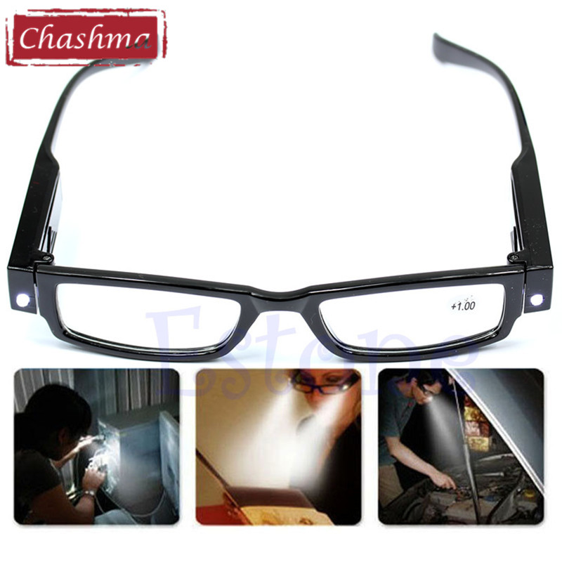 Chashma New Multi Strength LED Light Reading Glasses Eyeglass Spectacle Diopter Magnifier Light Glasses 1.5