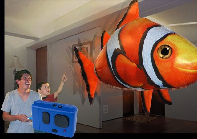 Free shipping Inflatable Balloon Toy Remote Controlled R/C Flying Clownfish