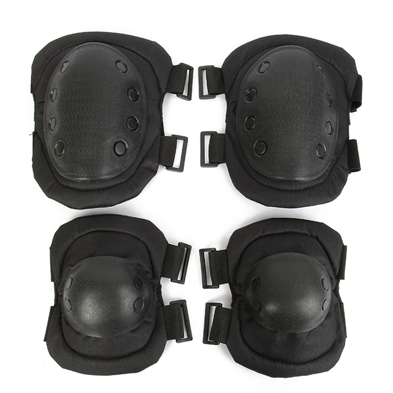 Tactical Protection Elbow & Knee Pads Set Sport Safety Pads Outdoor Protective Equipment Military CS Paintball Sporting Unisex airsoft adults cs field game skeleton warrior skull paintball mask