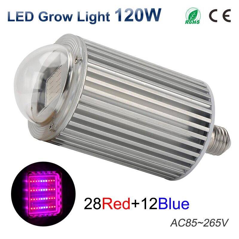 ФОТО LED Grow Light AC85-265V 120W E27 28Red 12Blue LED Plant Growth Light for Indoor Plants or Aquarium
