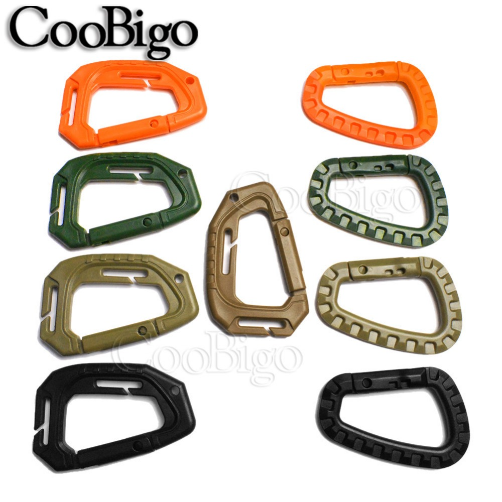 Rings Buckle Keychain Camp Mountaineering Hook Climing Carabiner Travel Kit