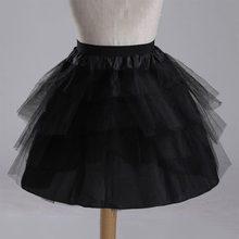 Fashion Girls Princess Skirt Solid Color Elastic Waist Bridesmaid Wedding 4 Layer Underskirt Girl Tutu Mesh Skirts YJS Dropship