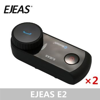 EJEAS E2 VOX Bluetooth Motorcycle Helmet Intercom Moto Interphone Headset Soft Microphone Wireless Headset